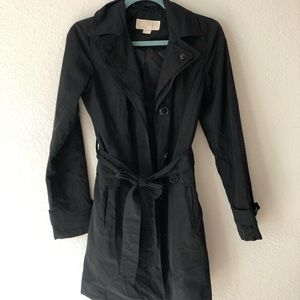 Michael by Michael Kors • Black Trench Coat • XS